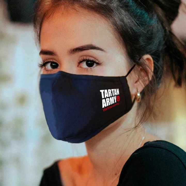 Tartan Army Ladies Navy Face Mask