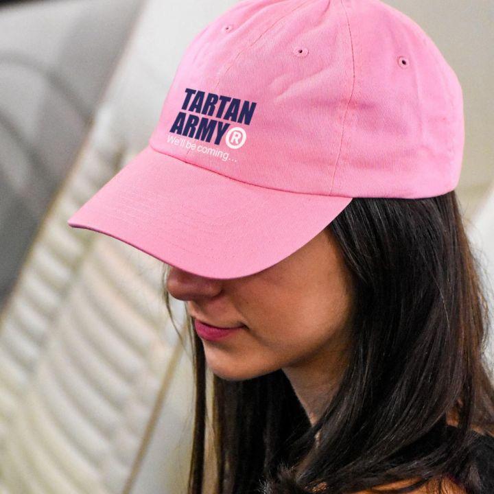 Tartan Army Pink Cap