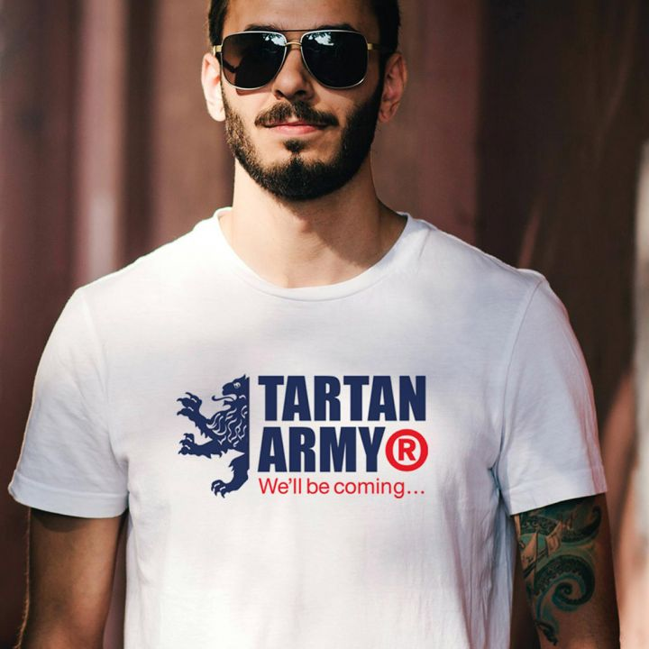 Tartan Army Joint Large Logo White T-Shirt