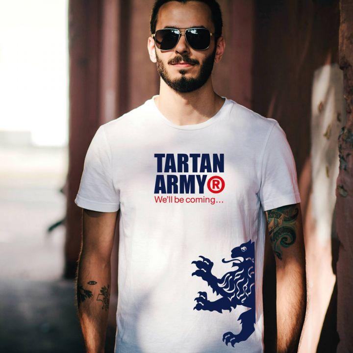 Tartan Army Classic White Gents T-Shirt