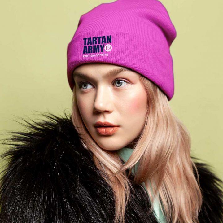 Tartan Army Pink Beanie Hat