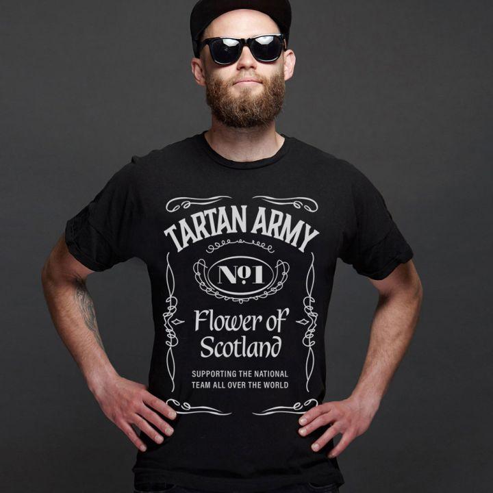 Tartan Army Jack Daniels Inspired T-Shirt