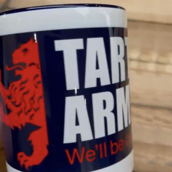 Tartan Army White Mugs